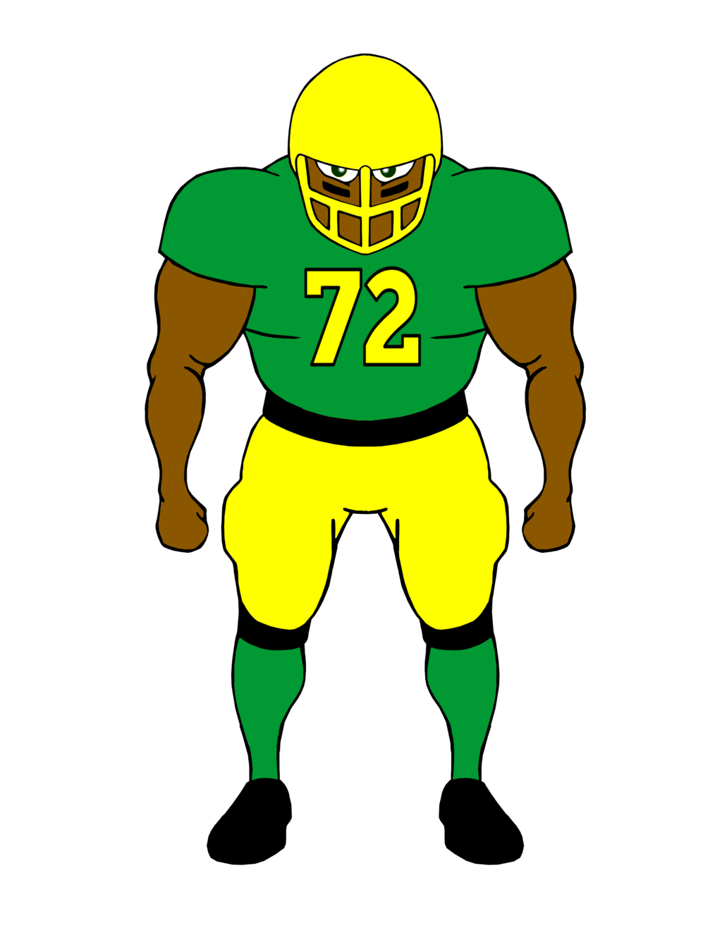 collection of defense. Clipart football linemen