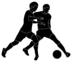 Clipart football man. Silhouettes of people silhouette