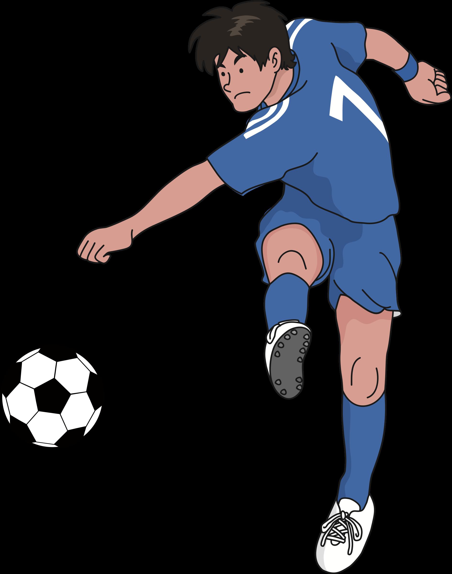 Soccer player big image. Clipart football man
