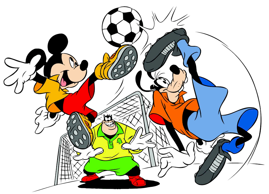 Clipart football mickey. Goofy pete soccer disney