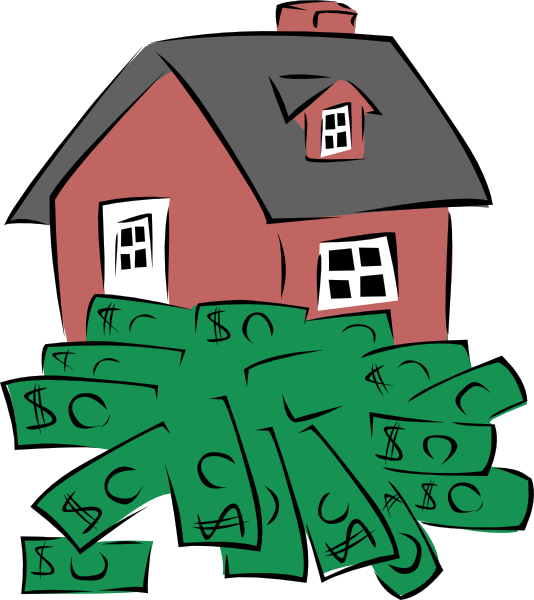 Money cartoon images free. Clipart home property