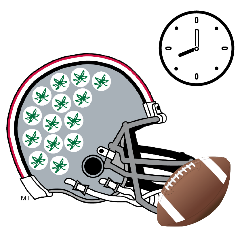 Clipart football ohio state. Game day itinerary daytripper