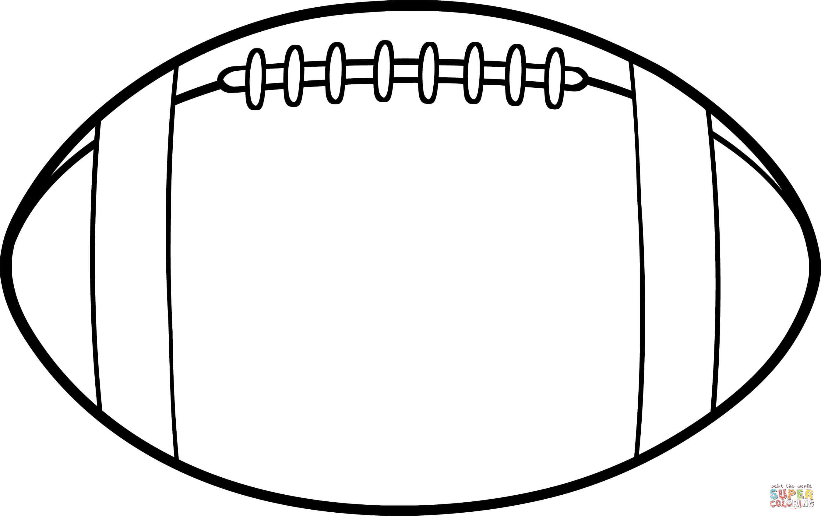 Clipartpost . Clipart football outline