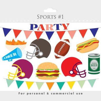 Sports clip art foot. Party clipart football