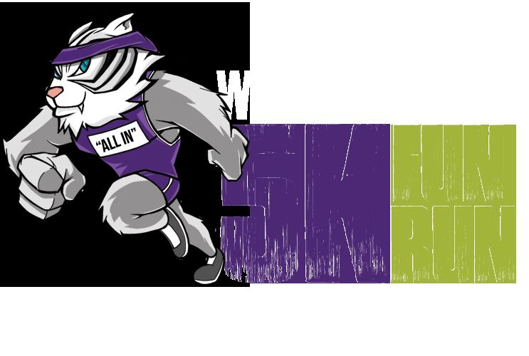 Wildcat clipart purple. Duluth walk k fun