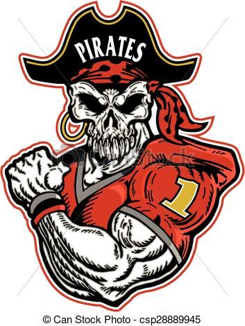Vector stock illustration royalty. Pirate clipart football