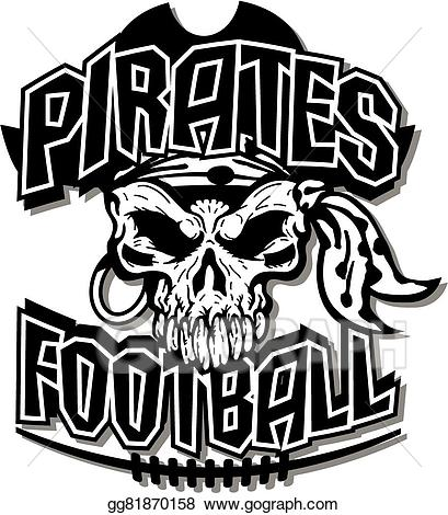 Vector art pirates drawing. Pirate clipart football