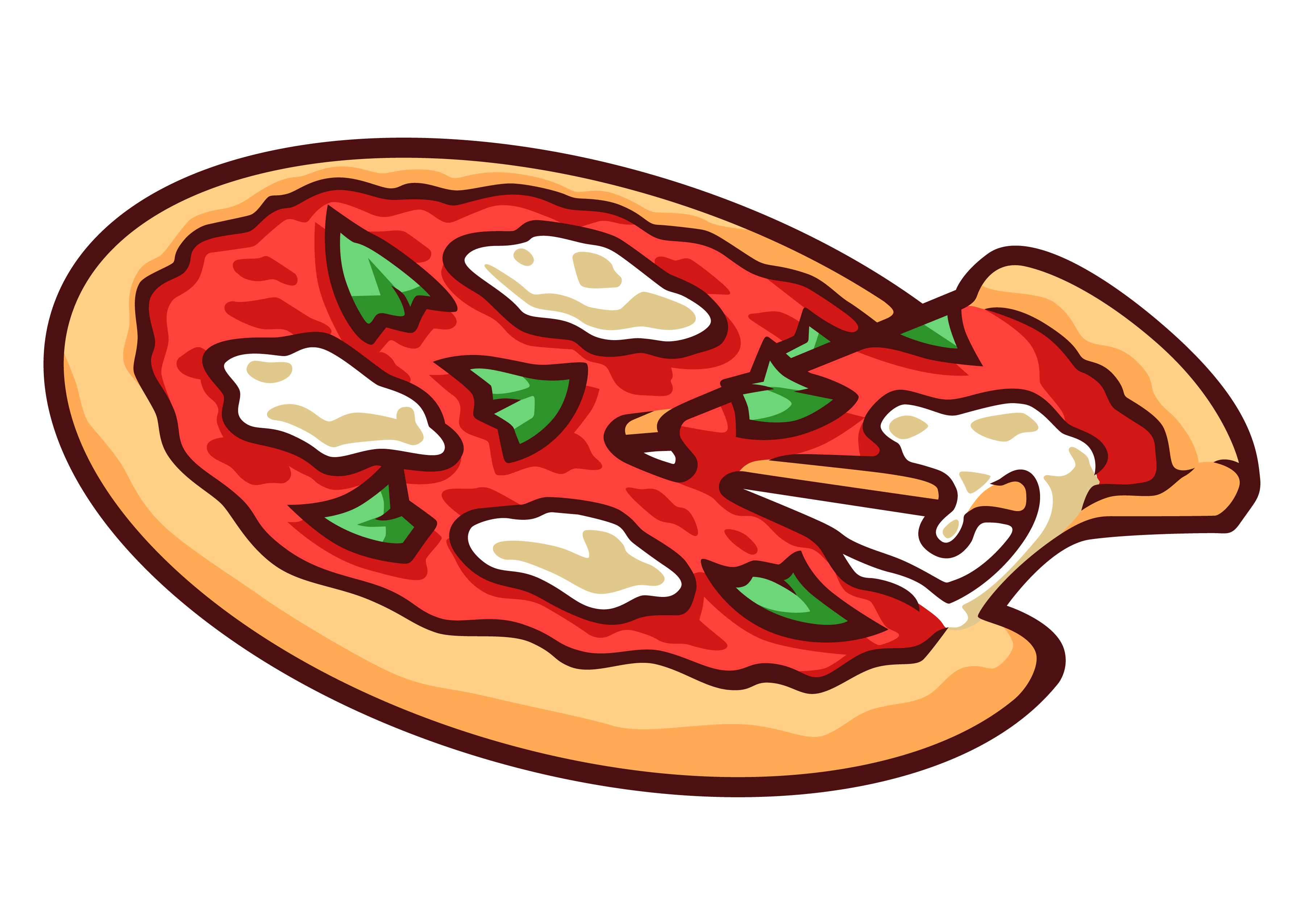 Icecream clipart pizza.  collection of margherita