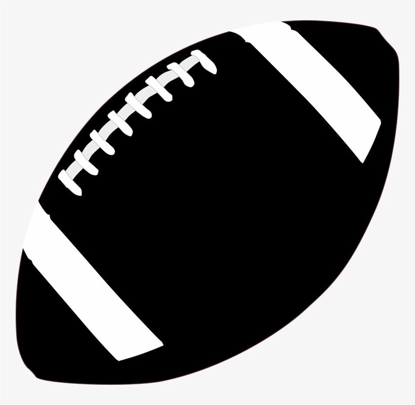 Black and white png. Football clipart plain