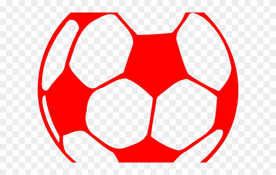 Soccer ball silhouette png. Clipart football red