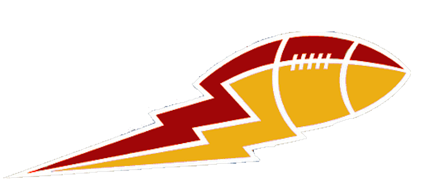Dark and gold lightning. Clipart football red