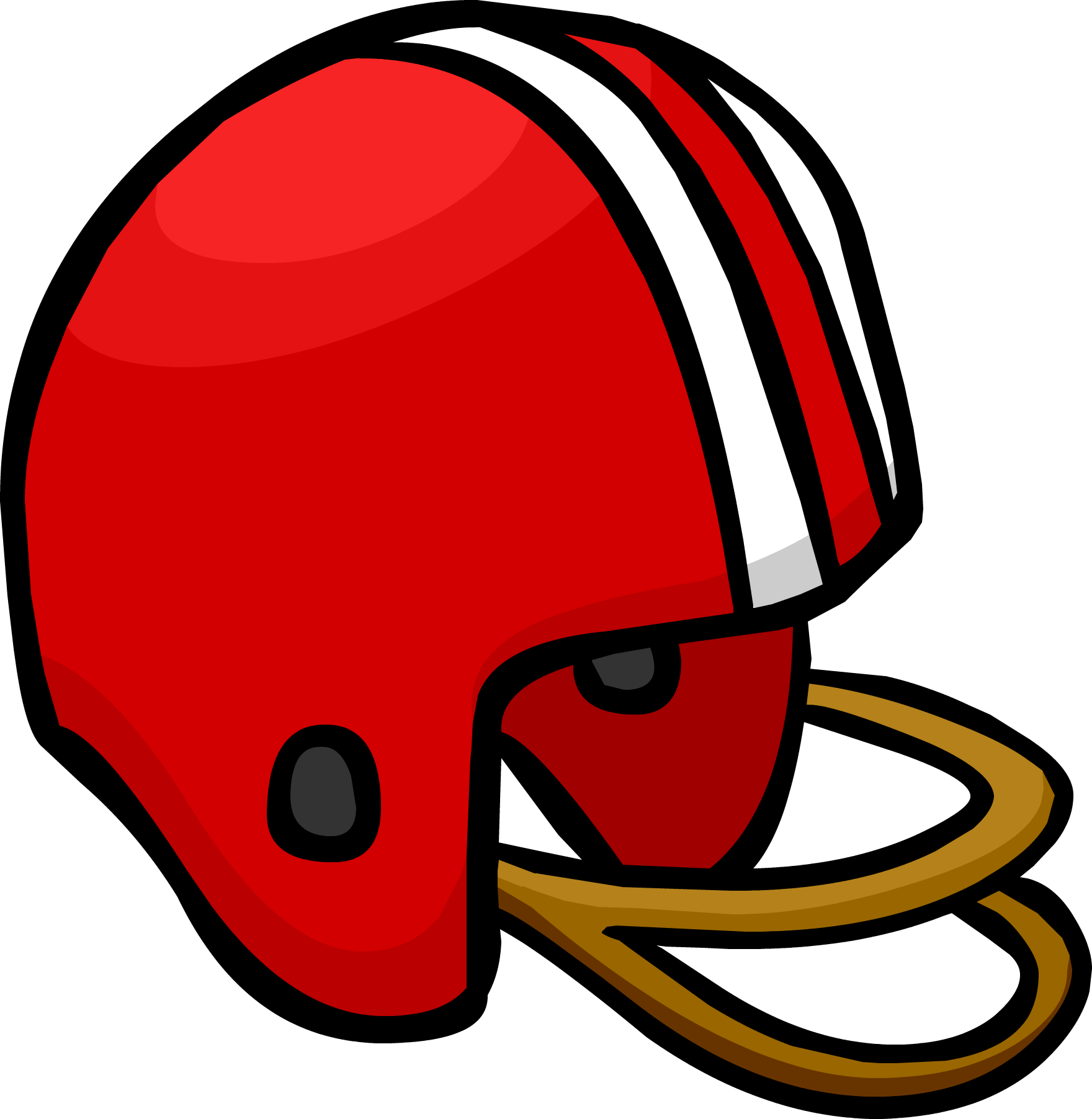 collection of helmet. Clipart football red