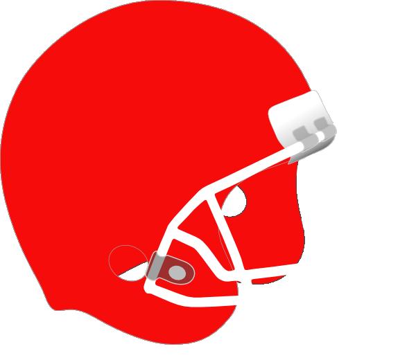 Clipart football red. Helmet white clip art