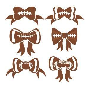Bow svg cuttable designs. Clipart football ribbon
