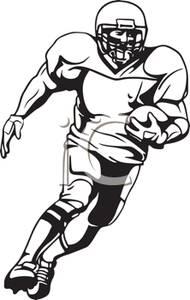 Player running clip art. Football clipart runner