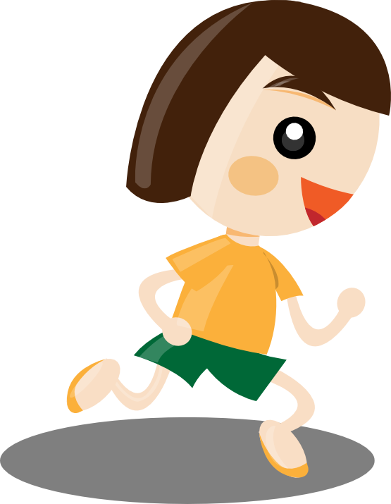 Girl running panda free. Exercising clipart runningclip