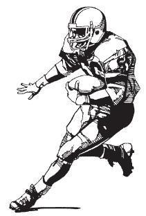 Football clipart runner. Running player clip art