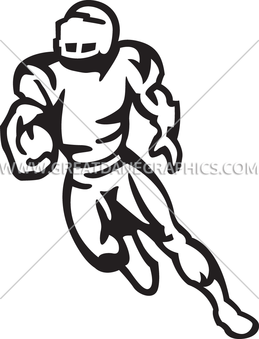 Player production ready artwork. Football clipart running back