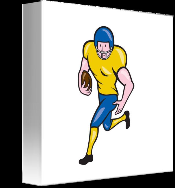 Football clipart running back. American cartoon by aloysius