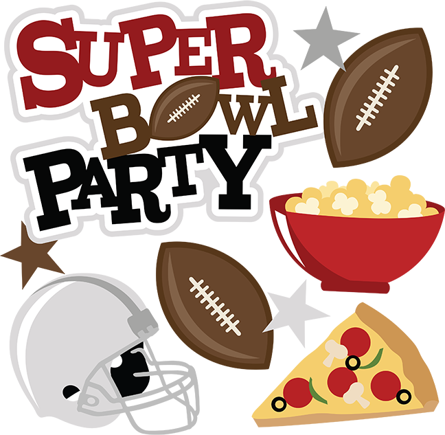 Super bowl party svg. Clipart football scrapbook