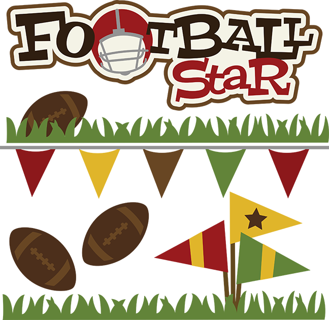 Clipart football scrapbook. Footbsll star svg file