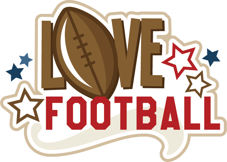 Love svg title file. Clipart football scrapbook