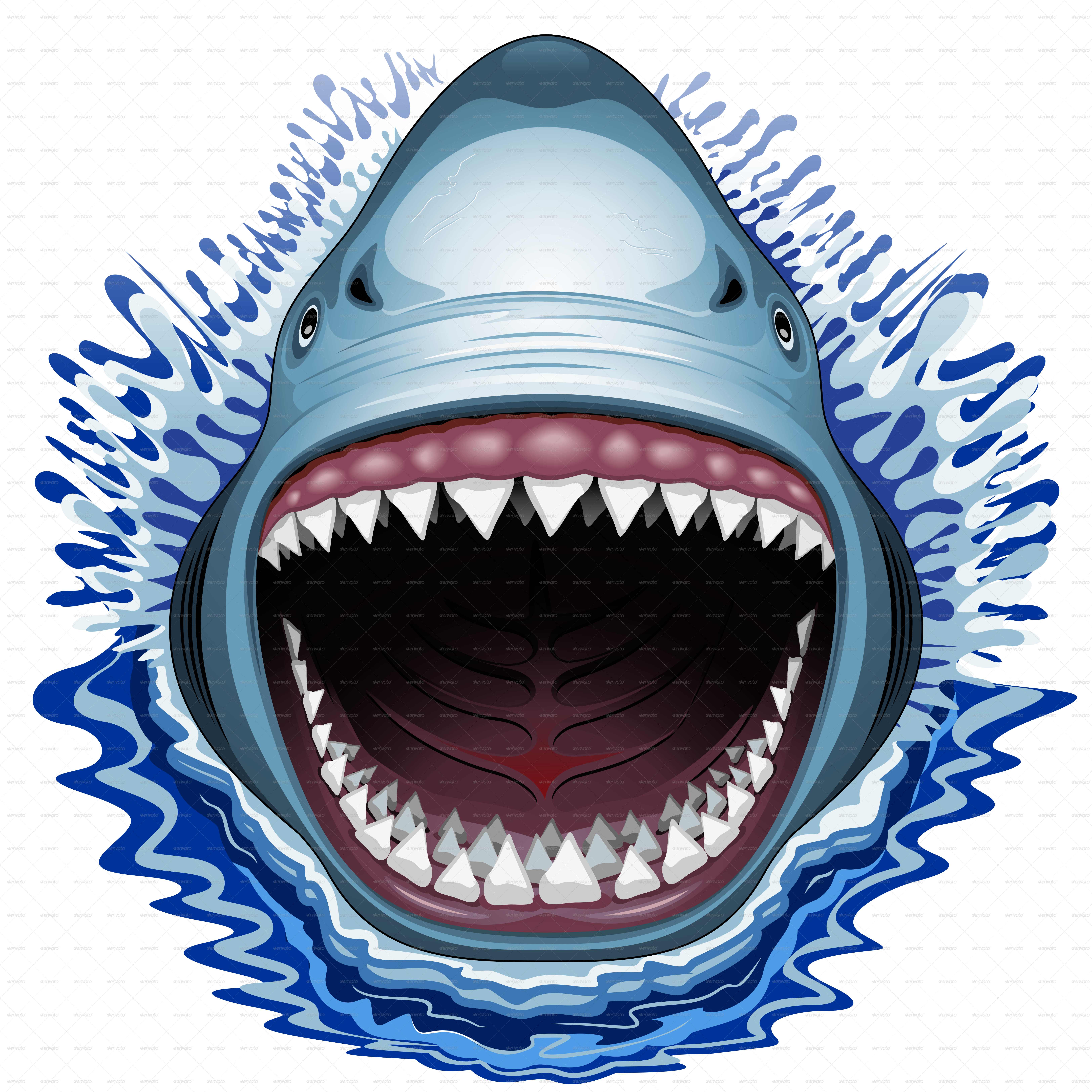 Coloring clipart shark. Jaw drawing at getdrawings