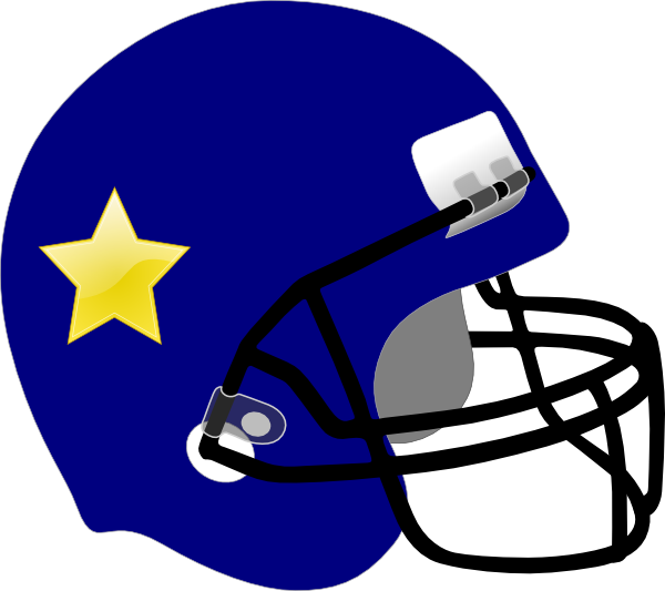 Clipart football shark. Helmet star on it