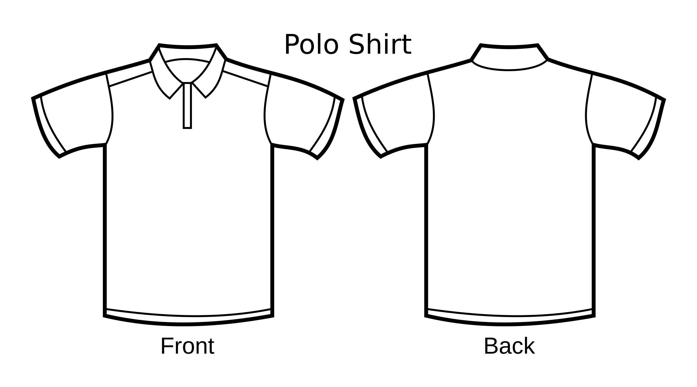 Polo shirt big image. Clipart football template