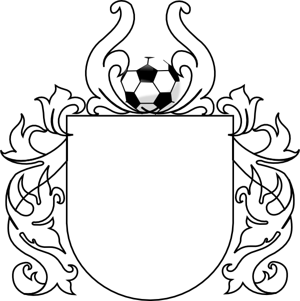 Ball drawing template at. Clipart shield soccer