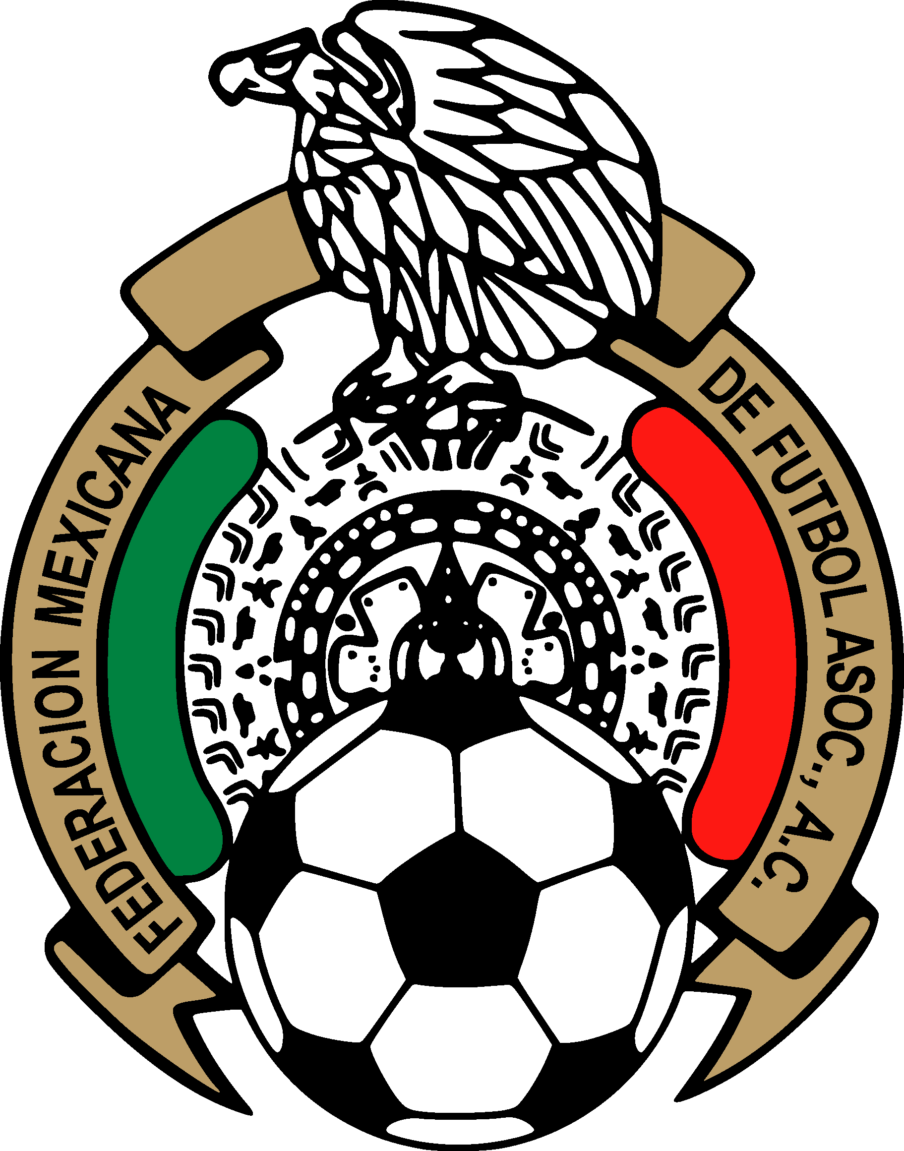 Mexican federation mexico national. Football clipart logo