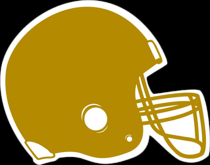 Gold . Football clipart top