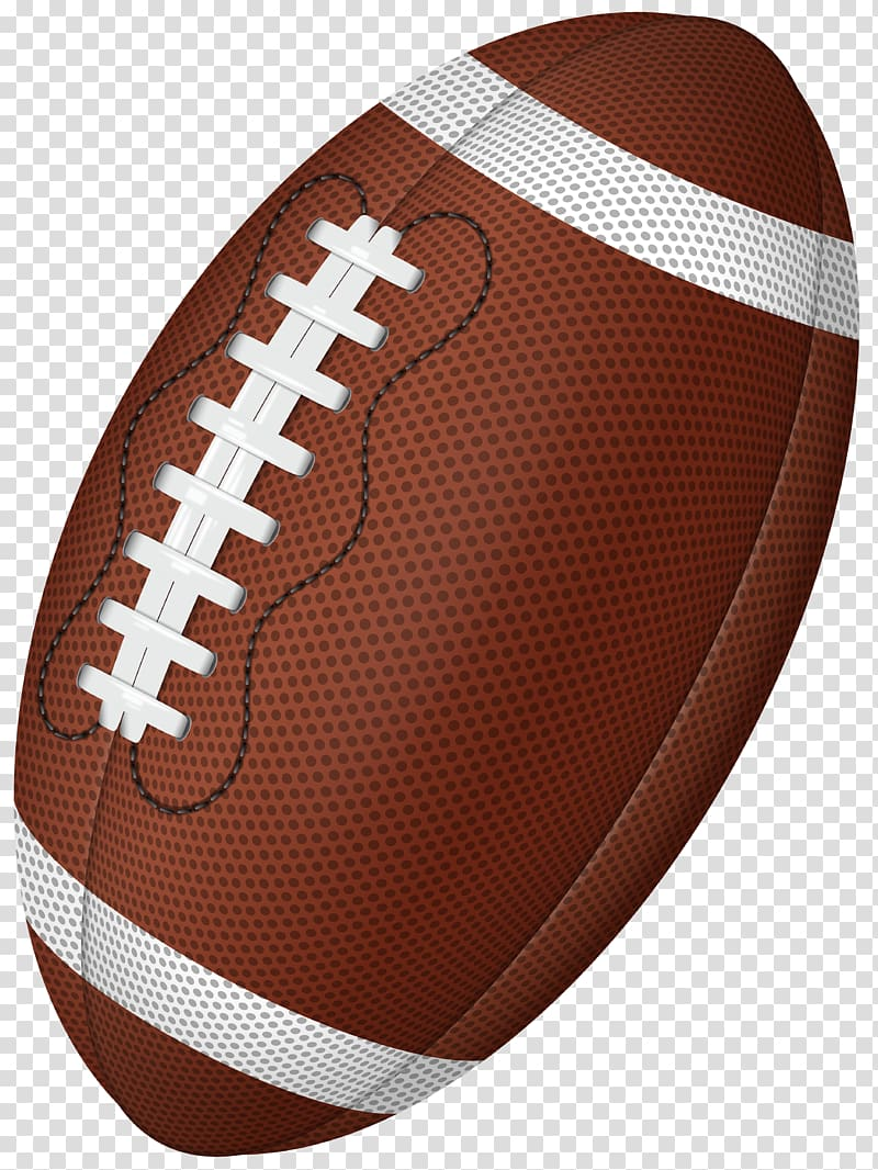 Clipart football transparent background. Brown and white illustration