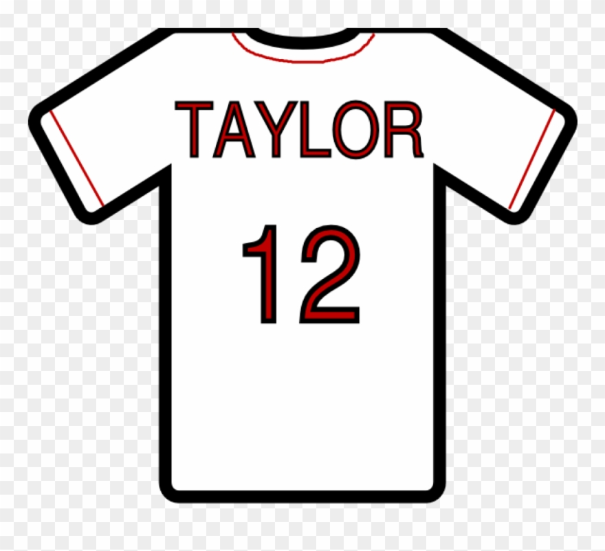 Sports clip art . Jersey clipart jersey number