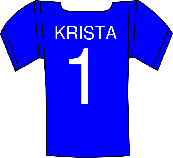 Krista clip art at. Jersey clipart jersey number