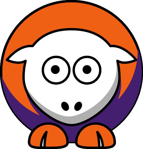 Sheep clemson tigers team. Clipart football vector