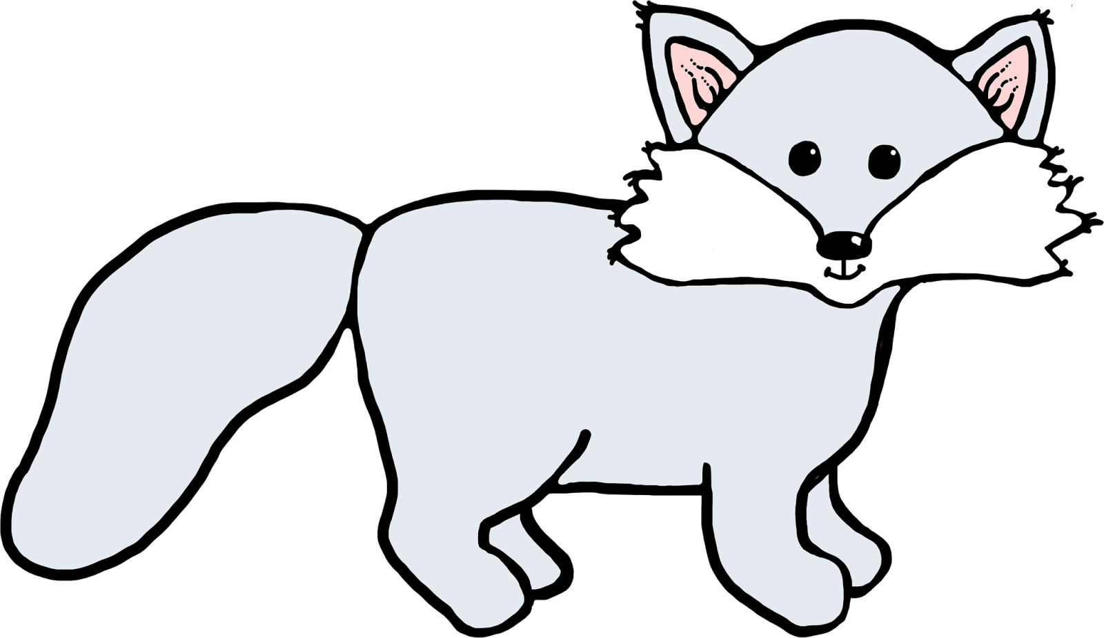 Arctic wolf animated free. Clipart fox winter