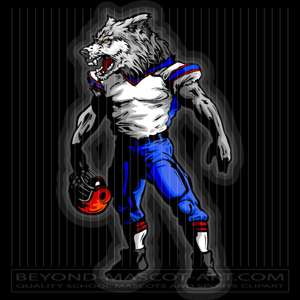 Wolves clipart football. Wolf