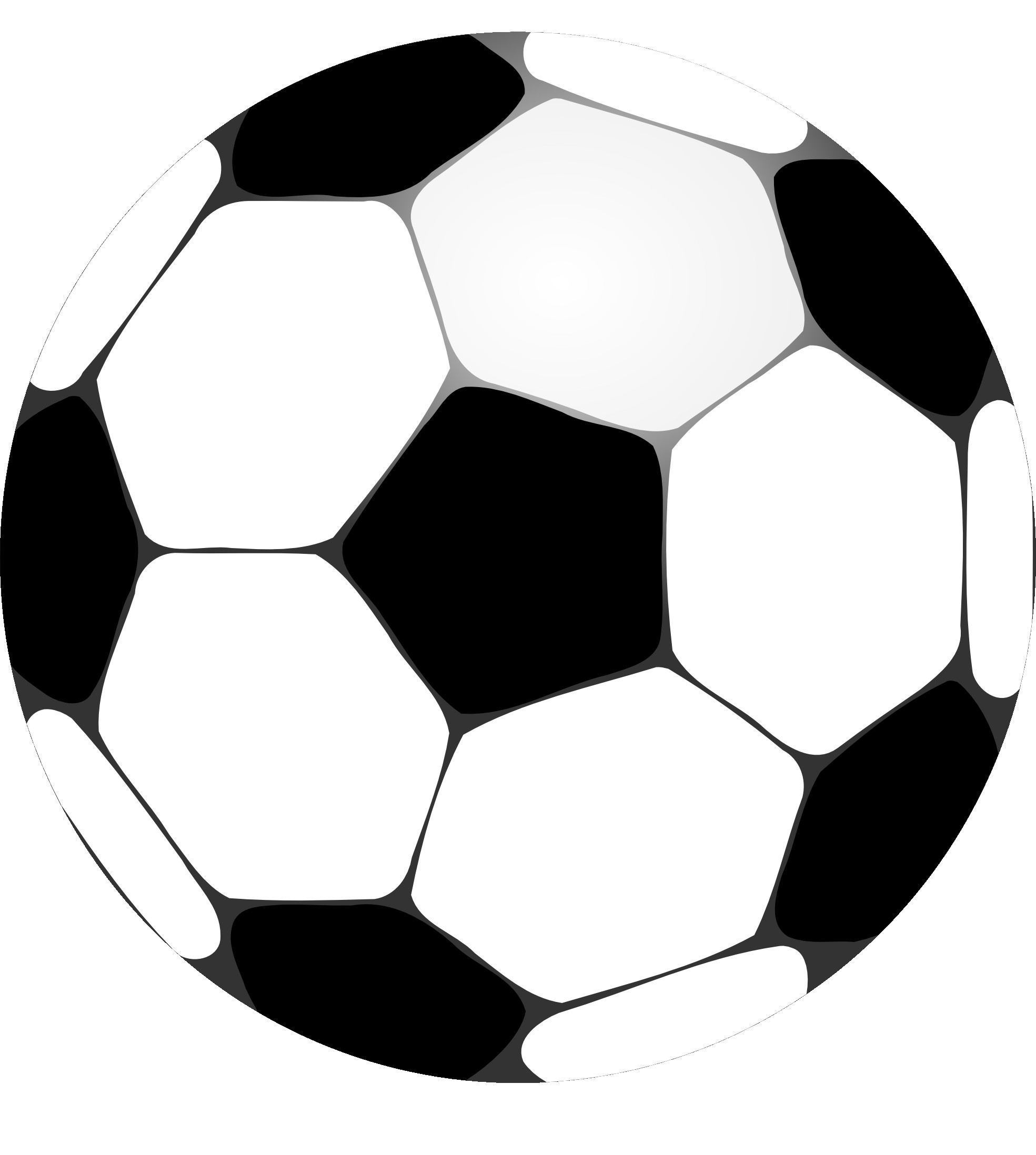 Black and white panda. Clipart football