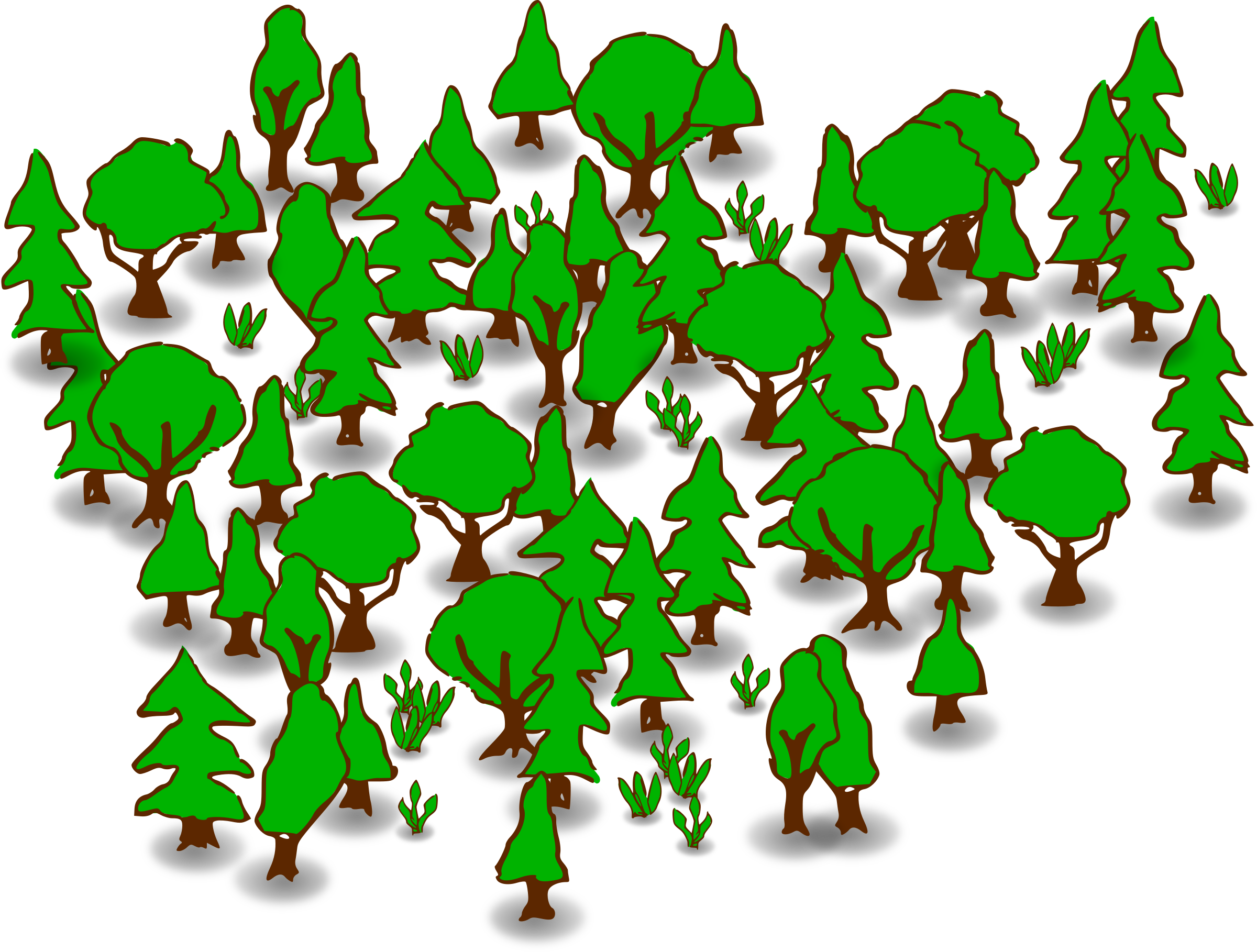 Clipart forest. Big image png