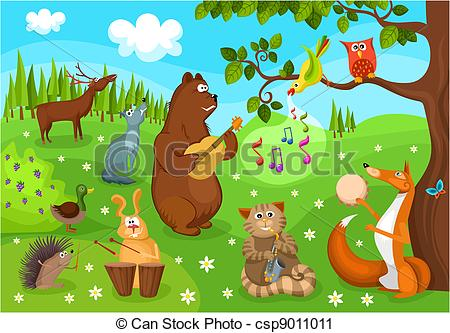 Clipart forest. Clip art free panda
