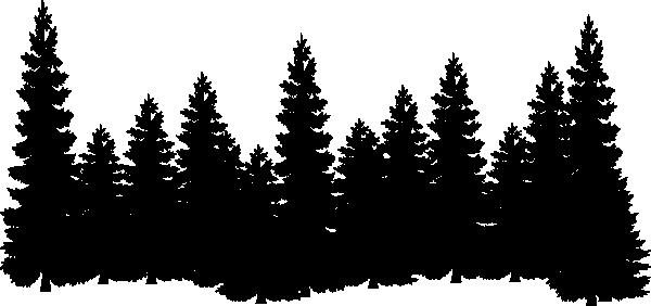 Shilouettes clip art vector. Clipart forest