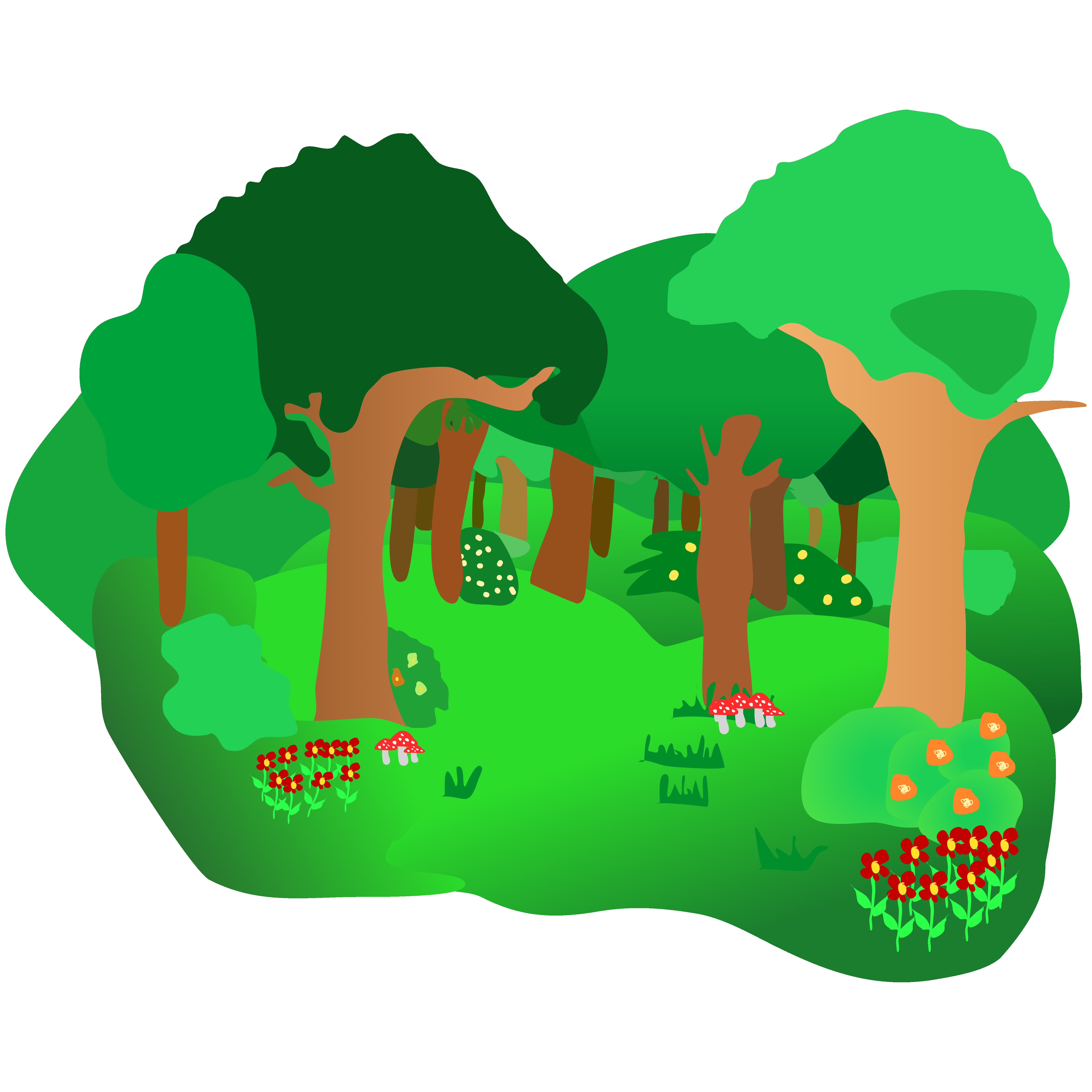 Clipart forest. Clip art vector labs