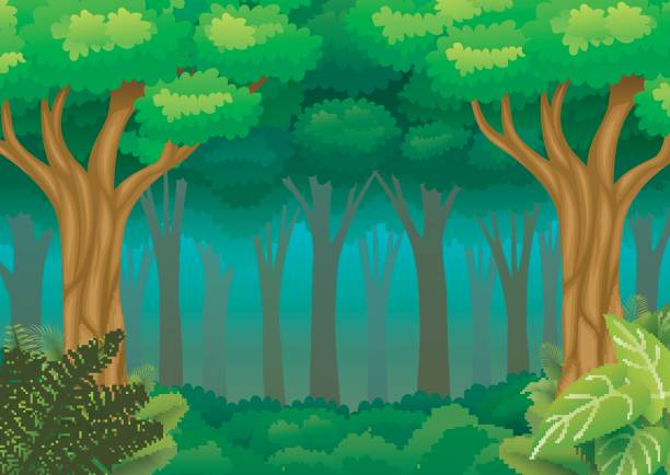 collection of dark. Clipart forest