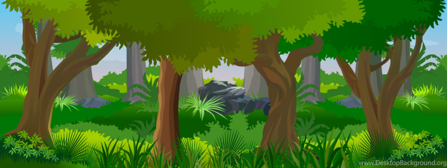 Forest clipart cartoon. Nature background drawing green
