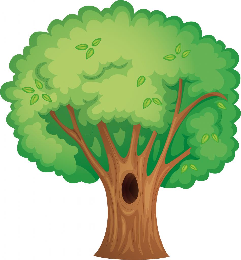 Juego educativo mi arbol. Tree clipart hug