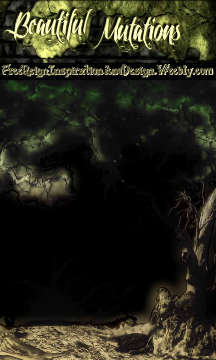 Beautiful mutations dark freebee. Frame clipart forest