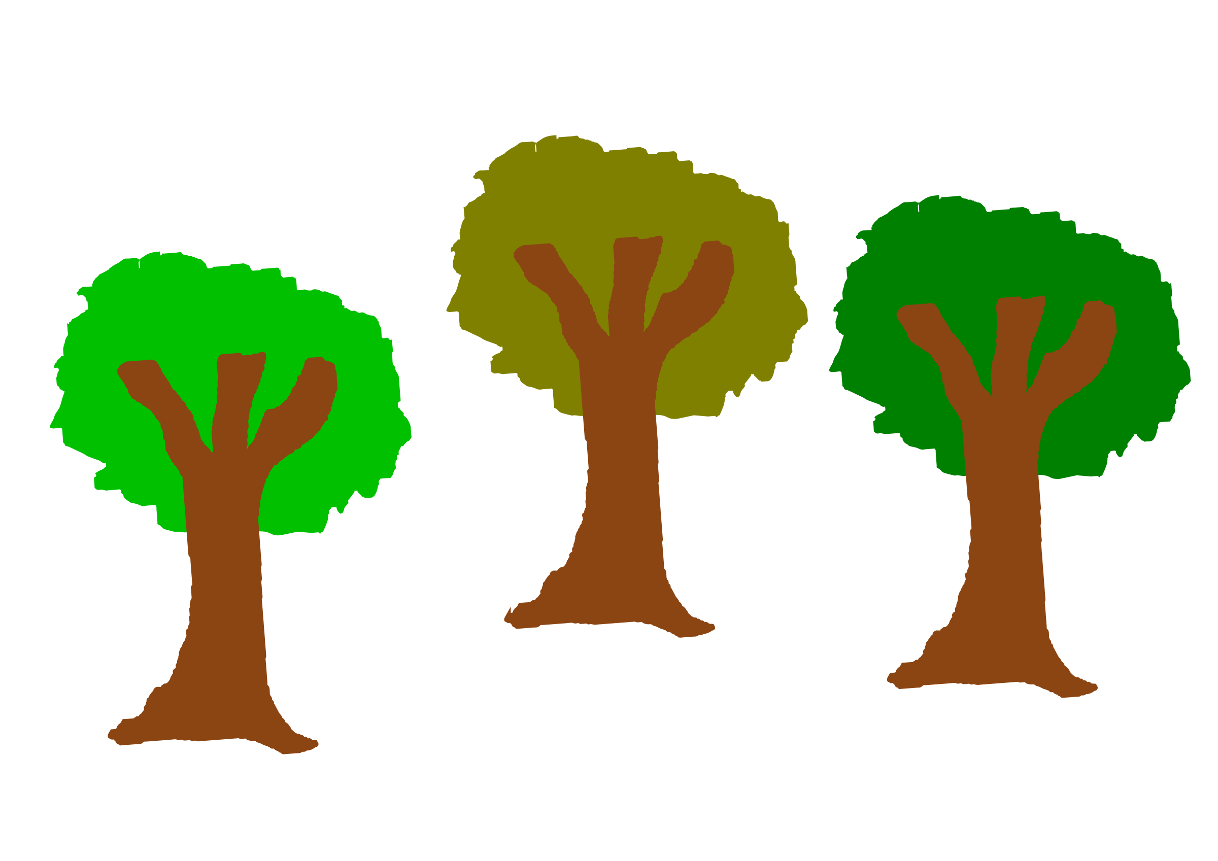Tree clipart vegetable. The three trees big