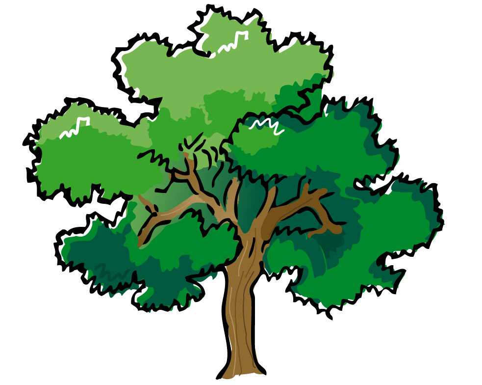 Tree clipart woodland. Green forest trees backgrounds