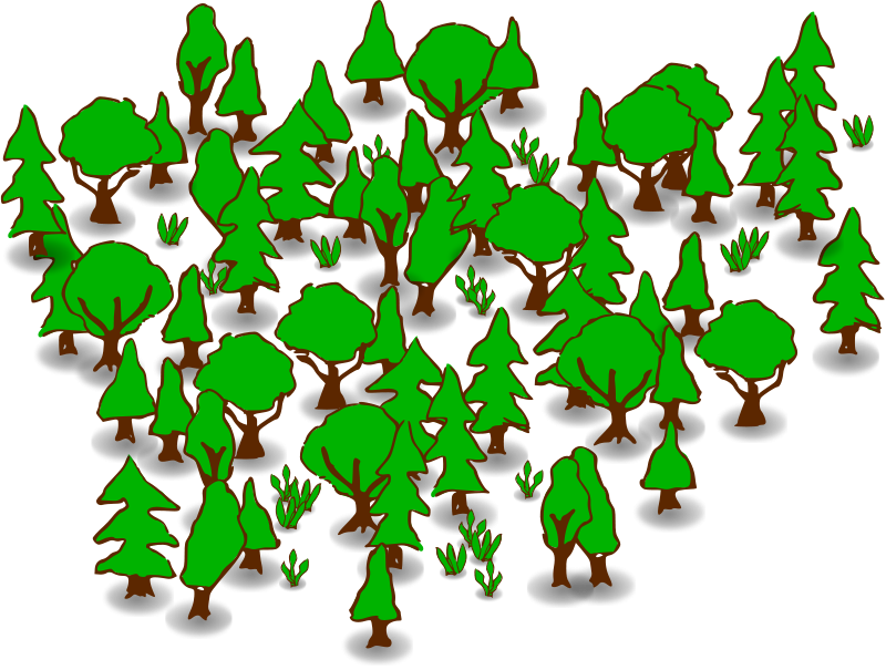 Tree clipart forest. Free animated cliparts download